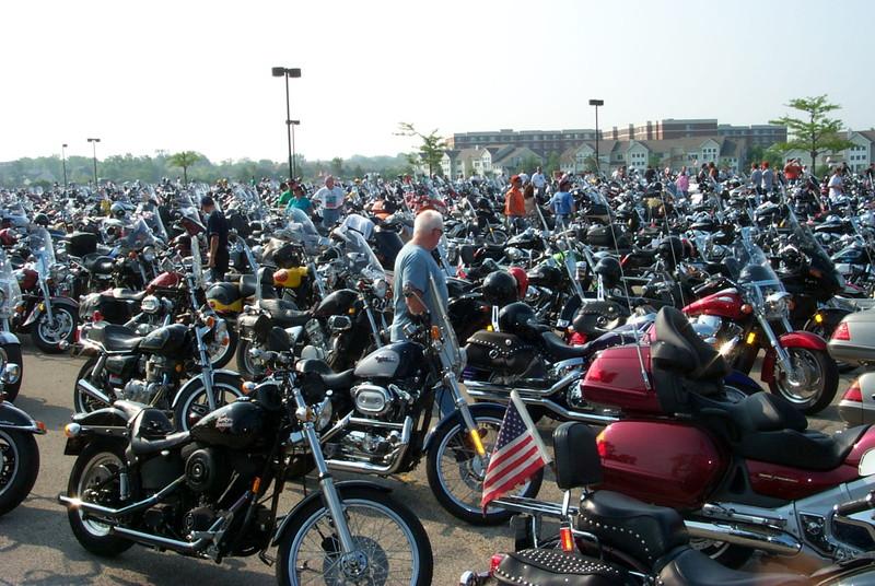 多数のバイク